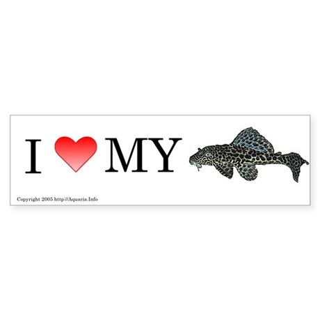 I Love My Pleco Bumper Sticker