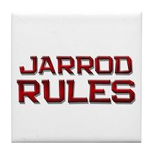 jarrod rules Tile Coaster
