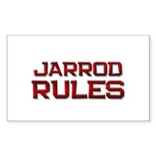jarrod rules Rectangle Decal