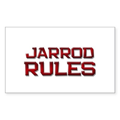 jarrod rules Rectangle Sticker