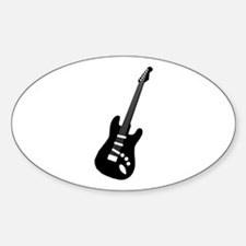 Guitar Silhouette Oval Decal