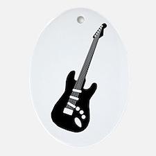 Guitar Silhouette Oval Ornament