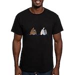 Duck Butts Men's Fitted T-Shirt (dark)