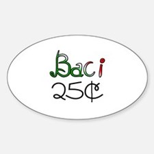 Baci 25 Cents Oval Decal