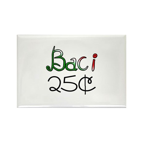 Baci 25 Cents Rectangle Magnet (10 pack)
