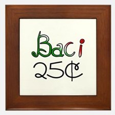 Baci 25 Cents Framed Tile