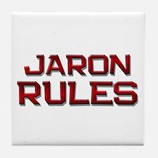jaron rules Tile Coaster