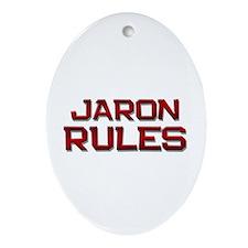 jaron rules Oval Ornament