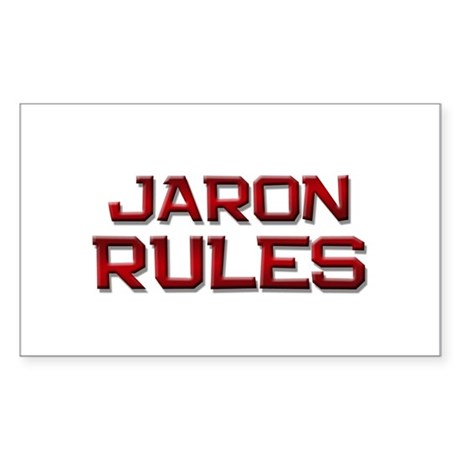 jaron rules Rectangle Sticker