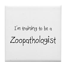 I'm training to be a Zoopathologist Tile Coaster