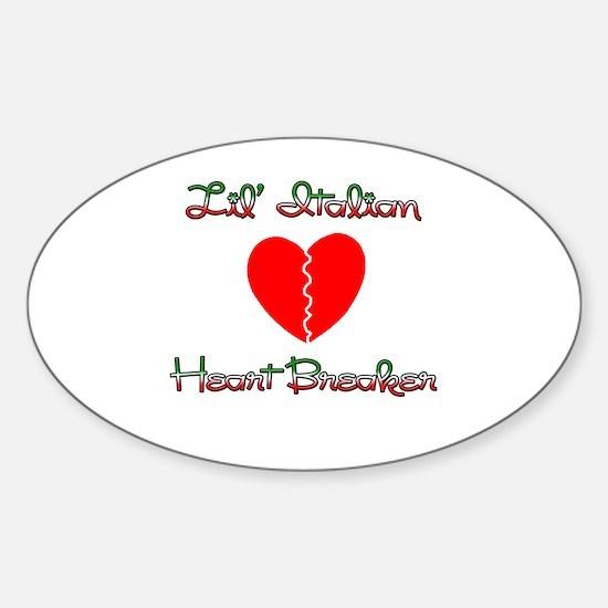 Lil' Italian Heart Breaker Oval Decal