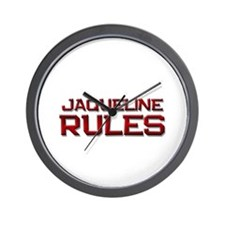 jaqueline rules Wall Clock