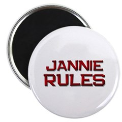 jannie rules Magnet