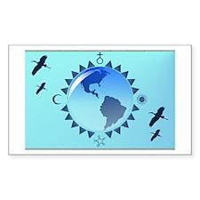Earth and Symbols Rectangle Sticker 10 pk)