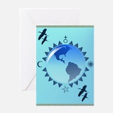 Earth and Symbols Greeting Card