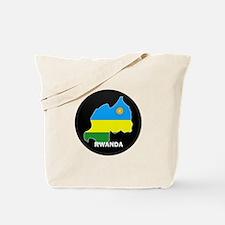 Flag Map of Rwanda Tote Bag
