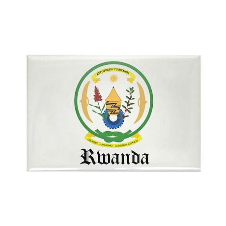 Rwandan Coat of Arms Seal Rectangle Magnet