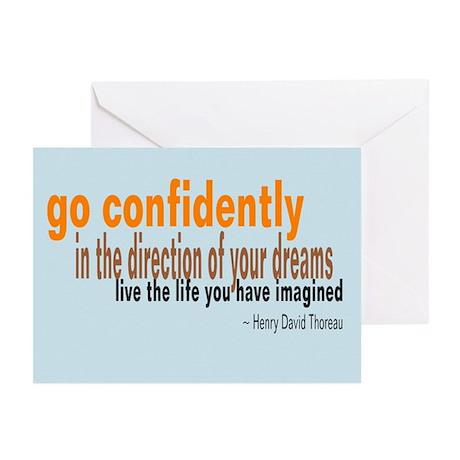 "Thoreau ""Go Confidently"" Greeting Cards"