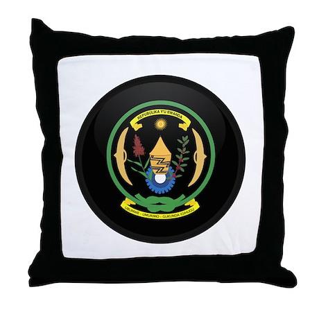 Coat of Arms of Rwanda Throw Pillow