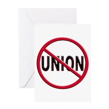 Anti-Union Greeting Card