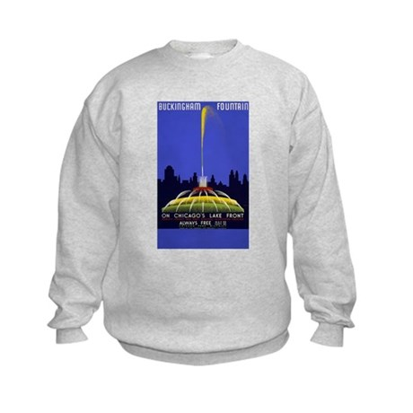 Chicago Grant Park Fountain Kids Sweatshirt