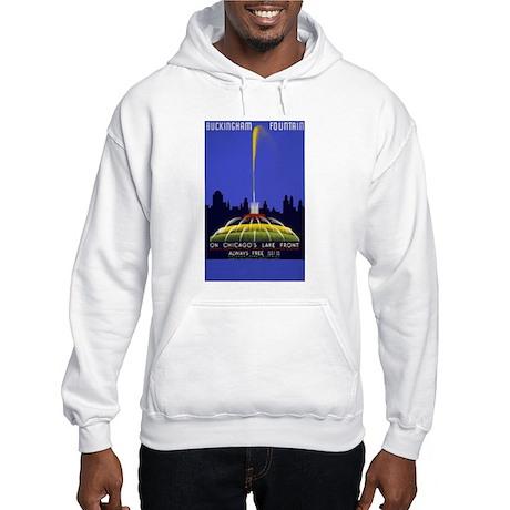 Chicago Grant Park Fountain Hooded Sweatshirt