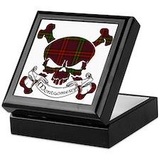 Montgomery Tartan Skull Keepsake Box
