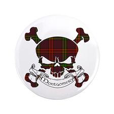 """Montgomery Tartan Skull 3.5"""" Button"""