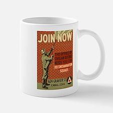 Civil Defense Retro Poster Mug