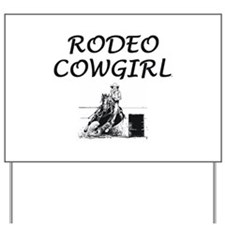 Rodeo Cowgirl Yard Sign