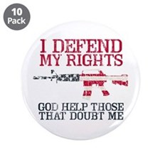 """Defending Rights 3.5"""" Button (10 pack)"""