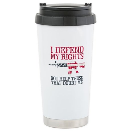 Defending Rights Stainless Steel Travel Mug