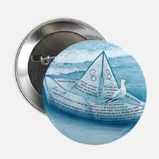 """""""Ocean and paper ship"""" 2.25"""" Button"""