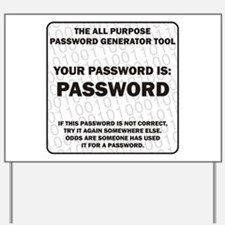 Password Yard Sign