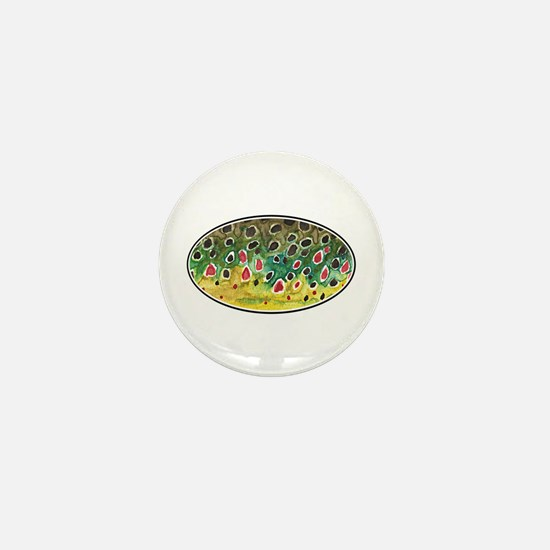 Brown Trout Fly Fishing Mini Button