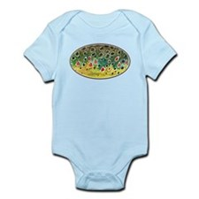 Brown Trout Fly Fishing Infant Bodysuit