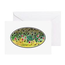 Brown Trout Fly Fishing Greeting Card