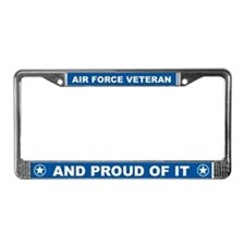 Proud Veteran License Plate Frame