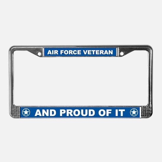 Proud Veteran License Plate Frame