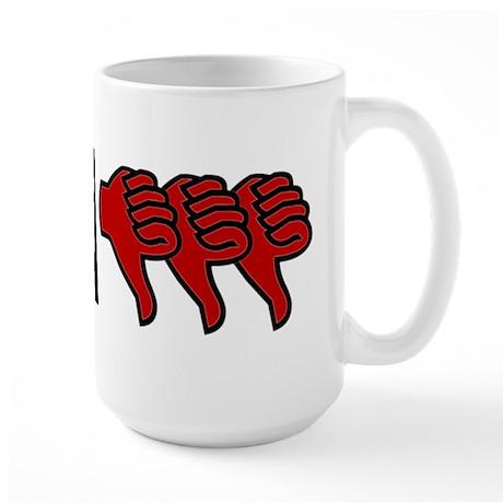 3 Thumbs Down Large Mug