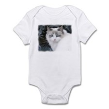 Cute Russian blue cat art Infant Bodysuit