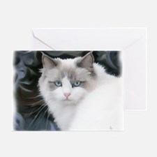 BluePointRagdollDreamCat3_UseThisOne Greeting Card