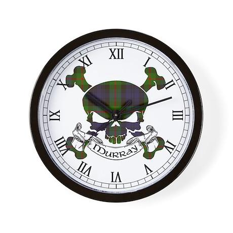 Murray Tartan Skull Wall Clock