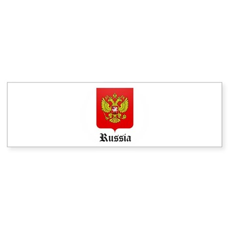 Russian Coat of Arms Seal Bumper Sticker