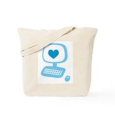 Computer Heart Tote Bag