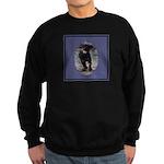 Romping Rottweiler Puppy Sweatshirt (dark)
