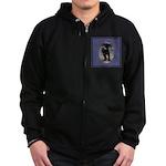 Romping Rottweiler Puppy Zip Hoodie (dark)