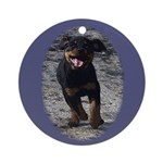 Romping Rottweiler Puppy Ornament (Round)