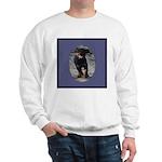 Romping Rottweiler Puppy Sweatshirt