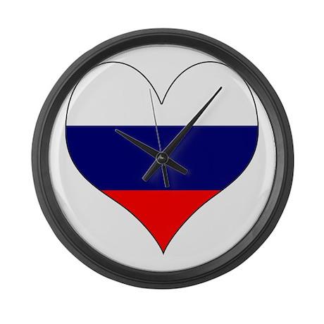 I Love Russia Large Wall Clock